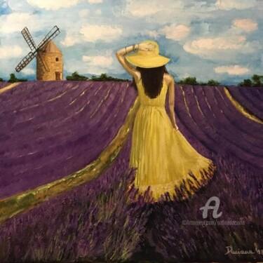 Girl in a lavande field