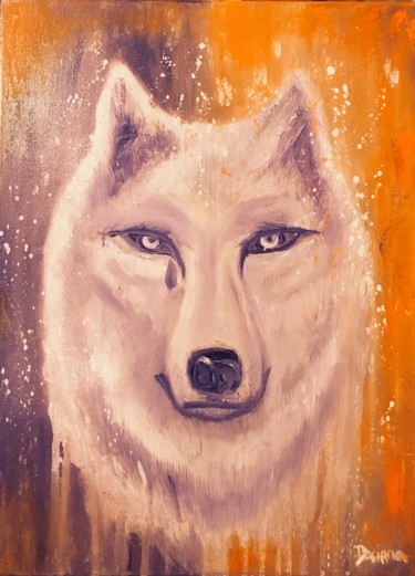 """Alpha, the wise white wolf"""