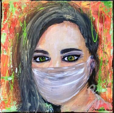 Self-Portrait wearing a mask
